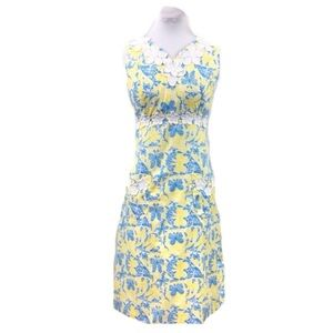 Vintage 60s Lilly Pulitzer blue yellow shift dress